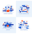 flat designed conceptual icons 10 vector image