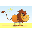 Funny Lion Cartoon Mascot Character vector image