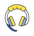 gaming headset color icon vector image