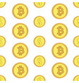 golden coins with bitcoin and dollar signs vector image vector image