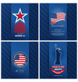 greeting cards set for us independence day vector image vector image