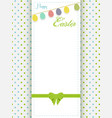 happy easter greeting card an eggs bunting vector image vector image