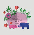 happy mothers day with floral decoration with vector image