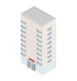 isometric hotel icon vector image vector image