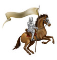 knight with spear and banner vector image vector image