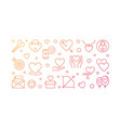 love creative outline vector image vector image