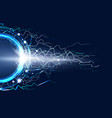 luminous electric circle lightning atmospheric vector image