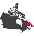 map of canada - newfoundland and labrador vector image