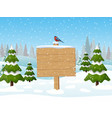 merry christmas wooden sign vector image