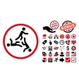 Moving Men Flat Icon with Bonus vector image vector image