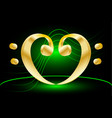 music note stave and heart bass clef vector image