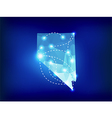 Nevada state map polygonal with spotlights places vector image