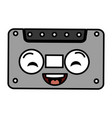 old cassette kawaii character vector image vector image
