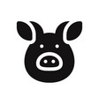 pig icon porkanimal symbol flat sign isolated on vector image vector image