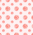 Pink soft polka dot seamless pattern vector image