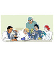 research laboratory in retro style vector image vector image