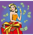 rich successful woman pop vector image vector image