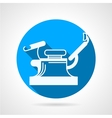 Round blue icon for gynecology chair vector image vector image