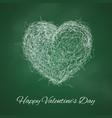 scribbled big heart happy valentines day banner vector image vector image