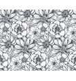 seamless pattern with hand drawn spring flowers vector image vector image