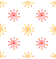 Seamless sun background vector image vector image