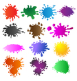 set colored blots vector image vector image