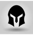 Spartans Helmets full face silhouette vector image vector image