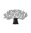 tree oak logo or label nature ecology vector image vector image