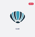 two color clam icon from animals concept isolated vector image