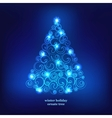 Winter holidays decoration tree vector image vector image