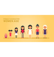 women age generations life stages of web vector image