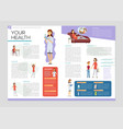 your health booklet - colorful brochure vector image vector image