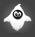 Halloween ghost cartoon vector image