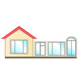 set of windows for installation in home vector image