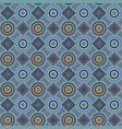 a blue pattern with circles and diamonds vector image vector image