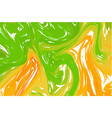 abstract ink background marble style orange green vector image