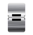 Alphabet silver flipboard letters equal vector image vector image
