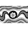 black and white zendoodle pattern ornament vector image vector image