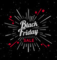black friday vintage sign vector image