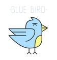 Blue bird logo vector image