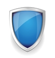 Blue empty shield vector image