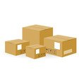 Brown shipping boxes vector | Price: 1 Credit (USD $1)