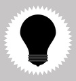 bulb silhouette icon vector image