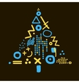 card with abstract christmas tree vector image vector image