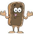 cartoon happy chocolate eclair vector image vector image