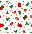 christmas pattern with birds vector image vector image