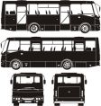 city bus silhouettes vector image vector image