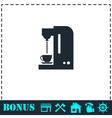 Coffee maker machine icon flat vector image vector image