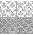 Damask ethnic textile pattern vector image vector image