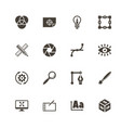 design - flat icons vector image